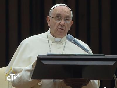 Papa fala da família como escola incomparável de humanidade / Foto: Reprodução CTV
