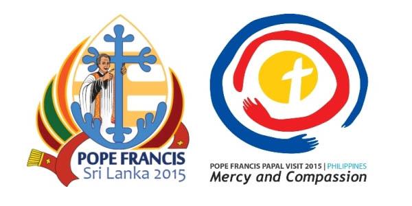 Logo oficial da viagem do Papa ao Sri Lanka (à esq.) e às Filipinas, ambas em janeiro do próximo ano / Foto: Reprodução vatican.va