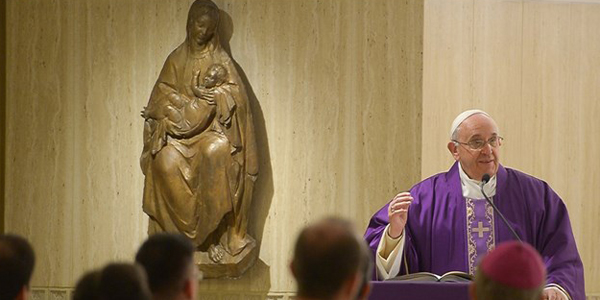 Papa celebra a última Missa do ano na Casa Santa Marta / Foto: L'Osservatore Romano