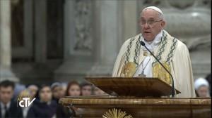 """""""Agradecer e pedir perdão: é o que fazemos hoje ao final de um ano"""", diz Papa Francisco / Foto: Reprodução/CTV"""