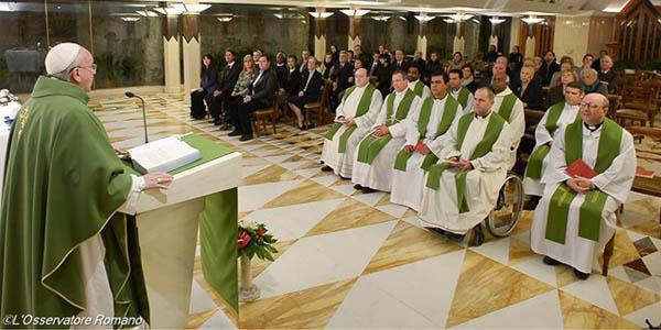 Francisco celebra Missa na Casa Santa Marta, um costume desde o início de seu pontificado / Foto: L'Osservatore Romano
