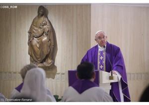 Francisco explica que Deus não age por meio de espetáculo, mas com simplicidade / Foto: L'Osservatore Romano