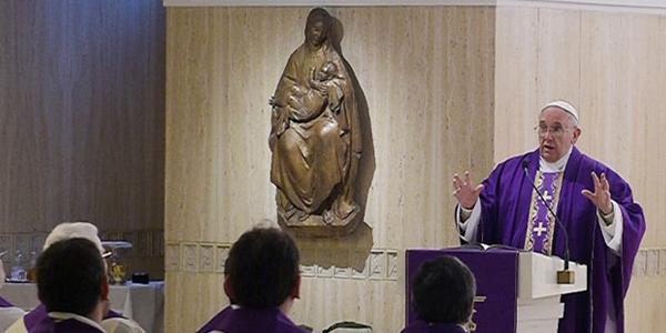 Francisco retomou as Missas na Santa Marta após semana de retiro quaresmal / Foto: L'Osservatore Romano