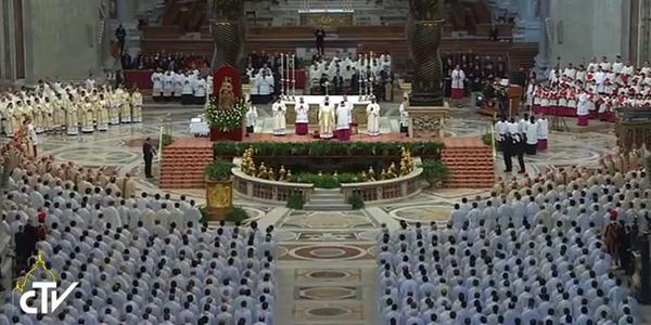Celebração aconteceu na Basílica de São Pedro / Foto: Reprodução CTV
