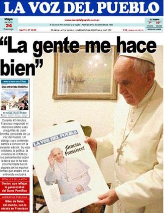 """Entrevista do Papa ao jornal argentino """"La Voz del Pueblo"""" / Foto: Reprodução - Rádio Vaticano"""