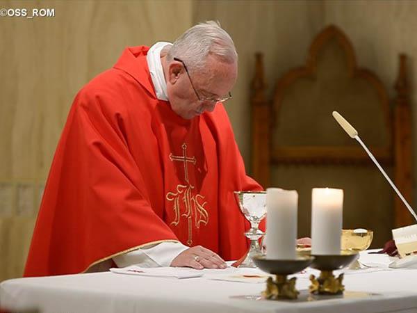 Papa Francisco durante homilia na Casa Santa Marta / Foto: L'Osservatore Romano