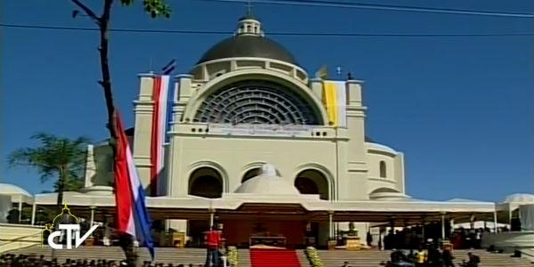 Santuário Mariano de Caacupé no Paraguai. Foto: Reprodução CTV