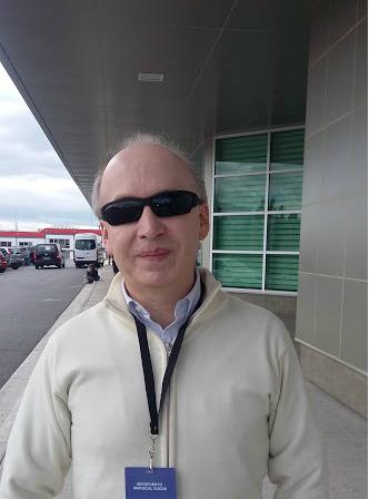 maestro responsável pelos ensaios, Patrício Aizaga