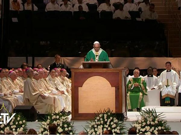 Papa Francisco preside Santa Missa no Madison Square Garden - Foto: Reprodução CTV