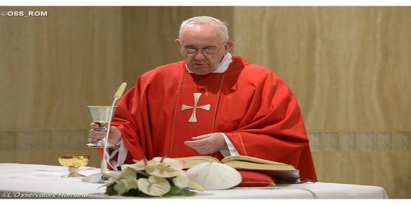 Papa Francisco na Missa desta segunda-feira, 14, festa da Exaltação da Santa Cruz. Foto: L'Osservatore Romano
