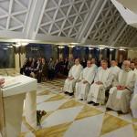 Papa Francisco na Missa de hoje, Festa dos Santos Anjos da Guarda./ Foto: L'Osservatore Romano.