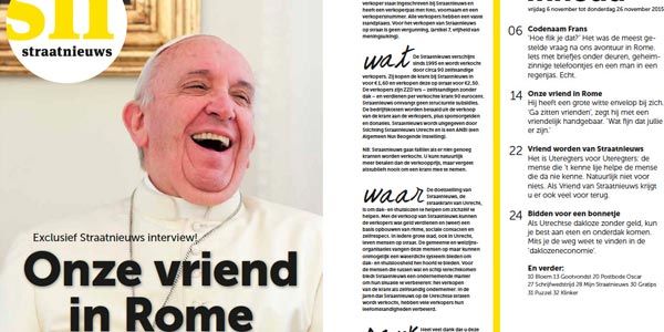 Papa concede entrevista a jornal holandês / Foto: Straatnieuws