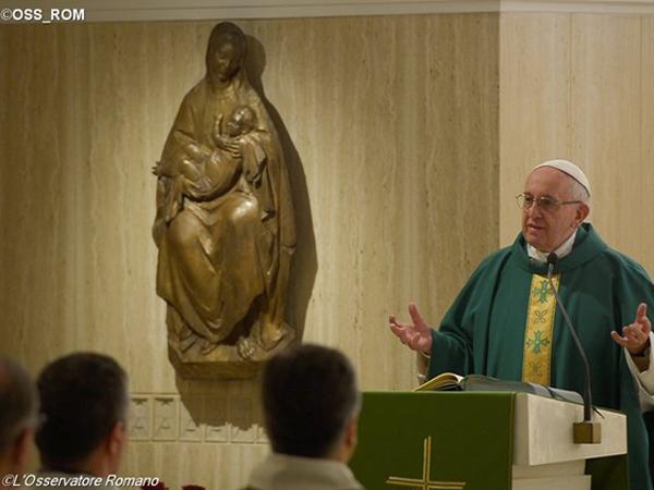 Papa Francisco em celebração eucarística na Casa Santa Marta / Foto: L'Osservatore Romano