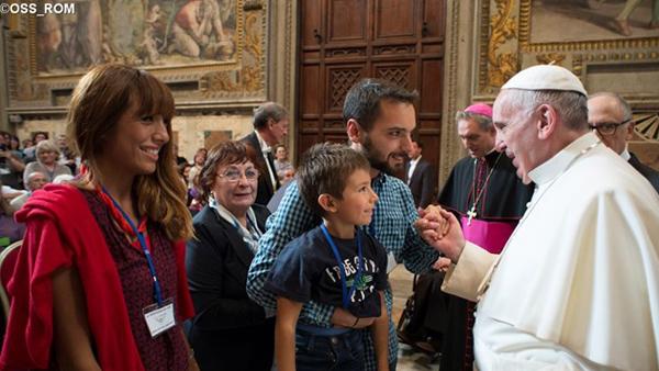 Francisco durante encontro com o Movimento pela Vida / Foto: L'Osservatore Romano