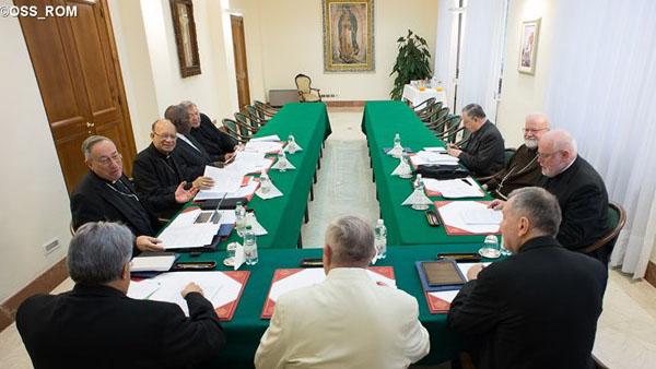 Papa durante uma das reuniões com o conselho de cardeais para a Reforma da Cúria / Foto: L'Osservatore Romano