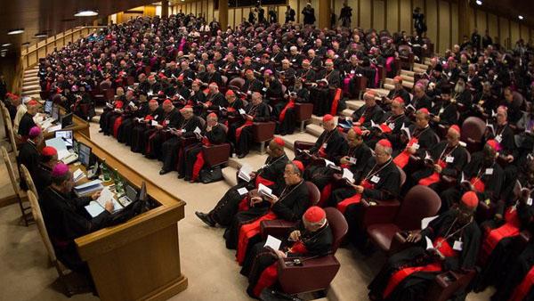 Francisco em assembleia sinodal / Foto: Arquivo-L'Osservatore Romano