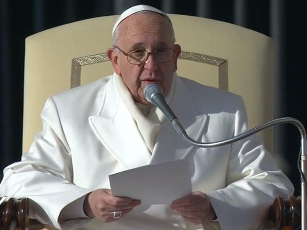 Em manhã fria em Roma, Papa fez a última catequese de 2015 / Foto: Reprodução CTV