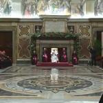 Francisco reunido com a Cúria Romana nesta segunda-feira, 21 / Foto: Reprodução CTV