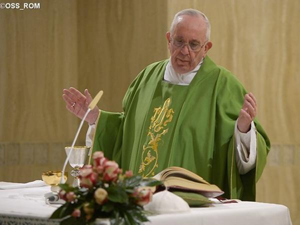 Papa Francisco celebra Missa na Casa Santa Marta / Foto: L'Osservatore Romano