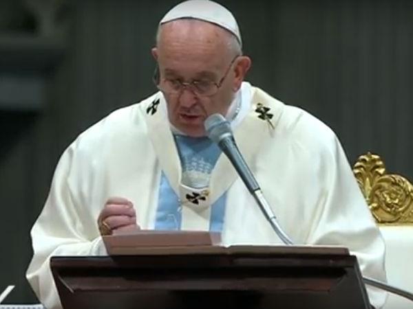"""""""A plenitude do tempo é a presença de Deus em pessoa na nossa história"""", explica Francisco / Foto: Reprodução CTV"""