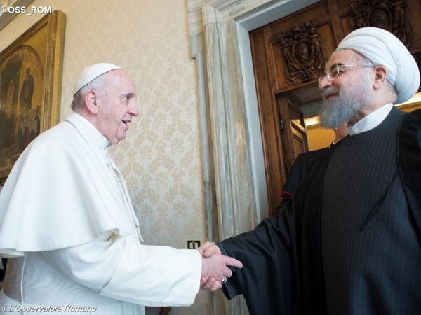 Papa e o presidente do Irã / Foto: L'Osservatore Romano