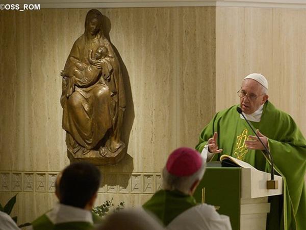 Francisco fala sobre a fé em Missa na Casa Santa Marta / Foto: L'Osservatore Romano