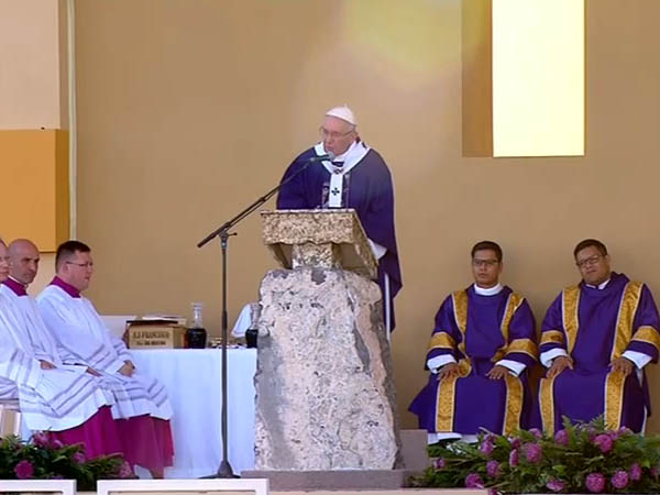 Último compromisso do Papa no Mèxico foi a Missa em Ciudad Juárez / Foto: Reprodução CTV