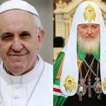 Papa e o Patriarca russo / Foto: Montagem