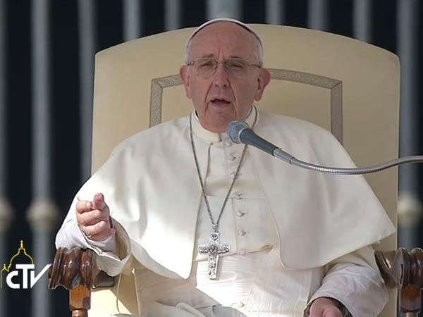 Francisco fala aos fiéis sobre misericórdia na Sagrada Escritura / Foto: Reprodução CTV