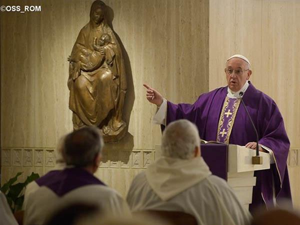Francisco retoma Missa na Casa Santa Marta após viagem ao México / Foto: L'Osservatore Romano