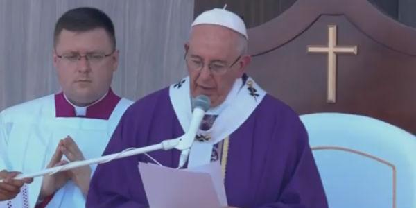 Papa Francisco durante o angelus na cidade de Ecatepec , no México./ Foto: Reprodução CTV