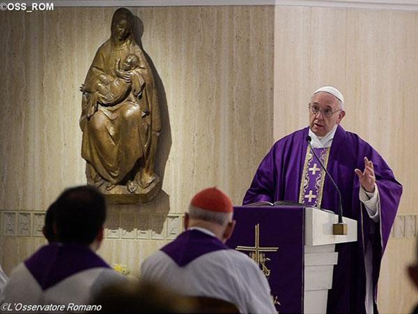 Papa em homilia na Casa Santa Marta / Foto: Reprodução CTV