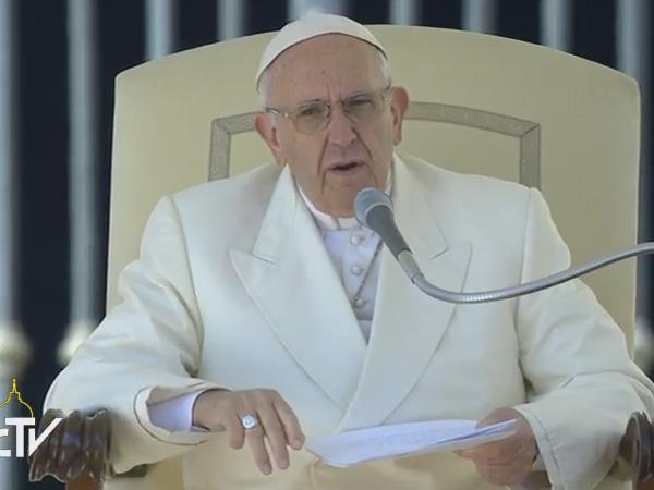 Papa fala aos fiéis na catequese desta quarta-feira / Foto: Reprodução CTV