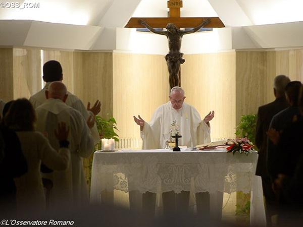 Francisco durante celebração eucarística / Foto: L'Osservatore Romano