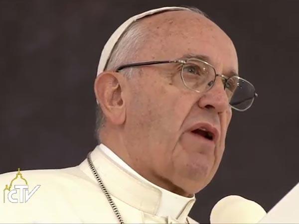 Papa fala a jovens do mundo inteiro na cerimônia de acolhida na JMJ / Foto: Reprodução CTV