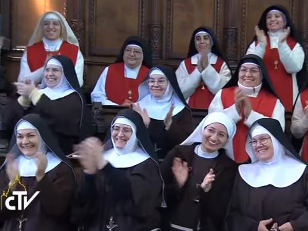 Em novo documento, Papa reflete sobre a vida contemplativa das mulheres / Foto: Arquivo - Reprodução CTV