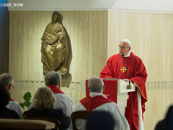 Francisco destaca que não existe deus da guerra; conflito é obra do maligno / Foto: L'Osservatore Romano