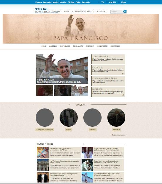 nova página papa