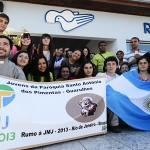 Peregrinos argentinos visitam a Canção Nova