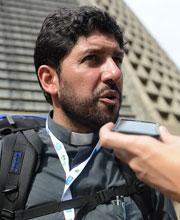 Padre Carizo, da Diocese de Mendoza (ARG) / Foto: Robson Siqueira - CN