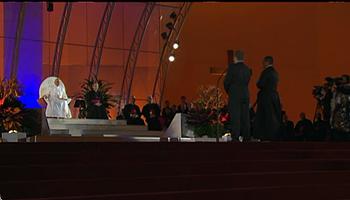 Papa Francisco é acolhido oficialmente pelos jovens da JMJ