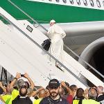 Papa conta as horas para chegar ao Brasil