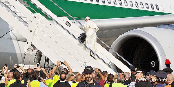 Papa Francisco embarca para o Brasil por ocasião da JMJ Rio2013/Foto: CN Roma