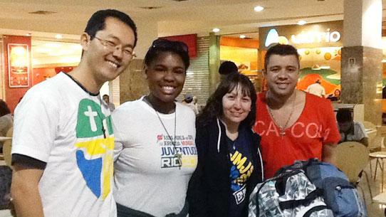 Jovens do interior de São Paulo chegam ao Rio de Janeiro para a #JMJ