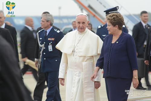 chegada do Papa ao Brasil