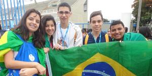 Jovens de São Paulo na JMJ