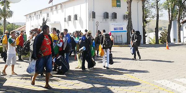 Depois da JMJ a Canção Nova é ponto de parada de muitos jovens. Foto: Alessandra Borges/ CN