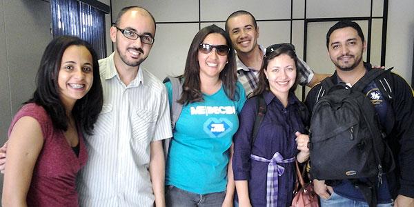 Equipe do Portal Canção Nova na cobertura da JMJ Rio 2013