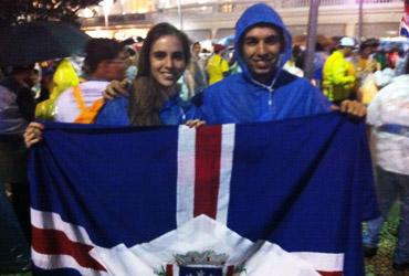 Alarícia e Jonatan de Mato Gorsso (Foto; Daniel Machado/CN)