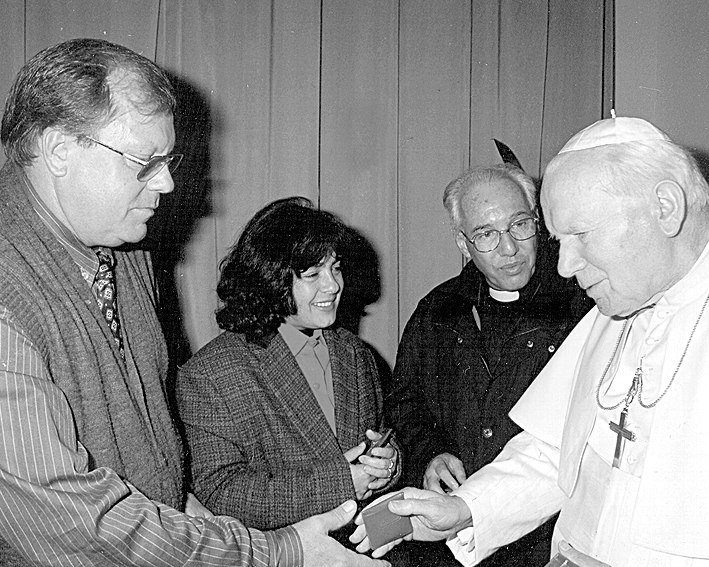 Padre Jonas encontrou-se com o Papa João Paulo II